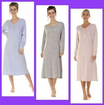 Ladies Long Sleeve Ultra Soft Nighties By La Marquise Size S / M / L / XL • 19.99£