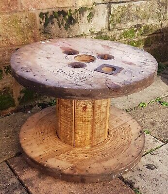 Wooden Electric Cable Drum Perfect As Coffee Patio Table Bookshelf Clock XS Size • 19.99£