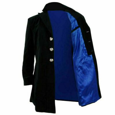 Christmas Doctor Who 12th Dr Mysteries Cosplay Costume Black Coat • 34.07£