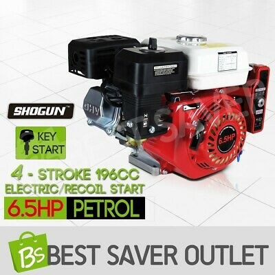 AU209.79 • Buy 6.5HP Petrol Stationary Engine 4 Stroke Electric Recoil Start Motor Gasoline