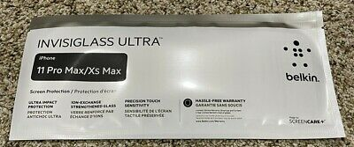 AU23.17 • Buy Belkin Invisiglass Ultra Screen Protection IPhone 11 Pro/X/Xs  Brand New Sealed