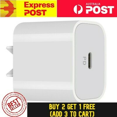 AU19.99 • Buy PD 18W USB Type C Fast Wall Charger Adapter For IPhone 12 11 Pro Apple Samsung