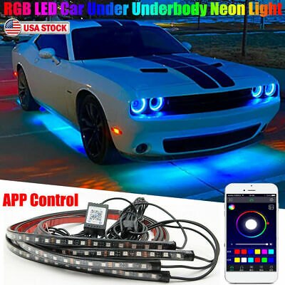 $23.89 • Buy RGB LED Car Neon Light Chassis Atmosphere Lamp Kit For Dodge Challenger Charger