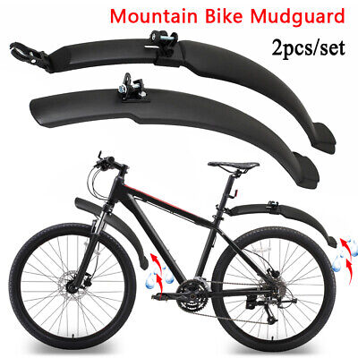 Mountain Bike Mudguard 26'' Bicycle Cycling Front Rear Mud Guards Fenders Set • 7.49£