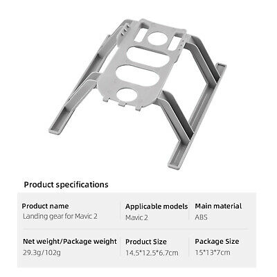 AU14.96 • Buy Extended Collapsible Landing Gear For DJI Mavic 2 Pro Drone Accessories