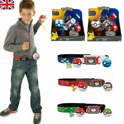 For Pokemon Pokeball Belt Set Clip Carry Poke Ball Belt Figures Toys Kid Gift UK • 17.49£