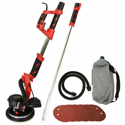 Excel 800W Telescopic Drywall Sander LED Dust Free Wall Ceiling Plaster Disc • 89.99£