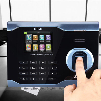 U160 LCD Biometric Fingerprint Scanner Time Clock Check In Out For School Office • 129.99£