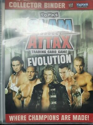 WWE Slam Attax Evolution Collector Binder 196 Cards Trading Card Game • 1,691.76£