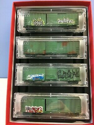 AU161.43 • Buy N Scale Micro Trains MTL 993 05 090 BN Weathered & Graffitied 4-Pack