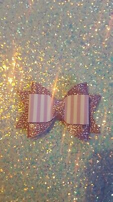 £2 • Buy Lilac Glitter Candy Tulip Bow