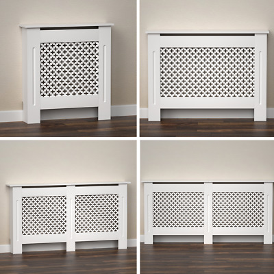 Radiator Cover White Modern Traditional MDF Wood Grill Shelf Cabinet Furniture • 37.99£