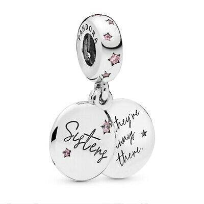 Genuine PANDORA Forever Sisters Pendant Charm Sterling Silver S925 ALE 798012FPC • 15.99£