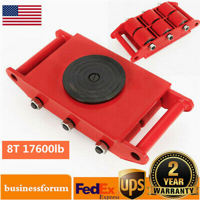 $79 • Buy 8Ton Heavy Duty Machine Dolly Skate Roller Machinery Mover 360° Rotation Cap USA