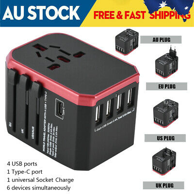 AU28.46 • Buy Universal International Type-C Travel Adapter USB Power Plug Charger Converter