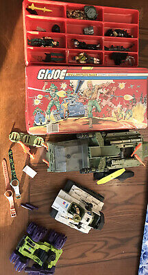 $ CDN183.03 • Buy Vintage 1984 GI Joe Carrying Case Figures VEHICLES Tank Boat Acc LOT Tara HASBRO