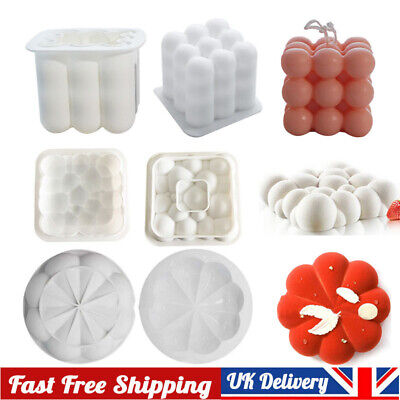 3D Silicone DIY Candles Mould Soy Wax Candle Mold Aromatherapy Plaster Candle • 3.99£