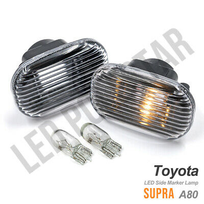 $19.39 • Buy Euro Clear Fender Side Marker Indicator Lamp W/Bulb For 93-98 Toyota Supra JZA80