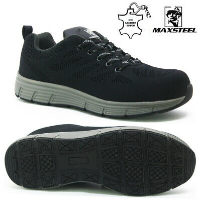 Mens Safety Steel Toe Work Shoes Waterproof Leather Military Desert Hiking Boots