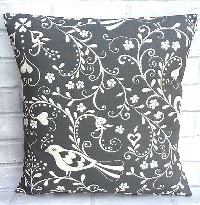 Jan Constantine Love Birds Grey Cushion Cover 14 16 17 18 19 20 22 24 Inch • 10.99£