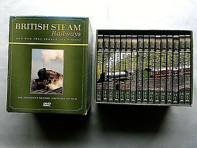£19.99 • Buy British Steam Railways And How They Shaped Our History DVD Boxset - Nos 1-16