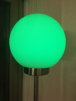 Ikea LED Colour Changing Globe Ball Frosted Glass Diffuse Standard Lamp E15 Used • 18£