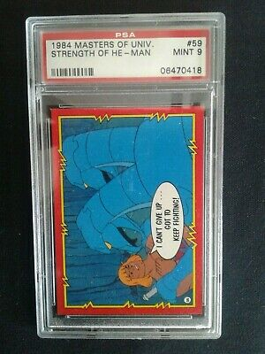 $55.28 • Buy Master Of The Universe Trading Card # 59 PSA Graded Mint 9 (STRENGTH OF HE-MAN)