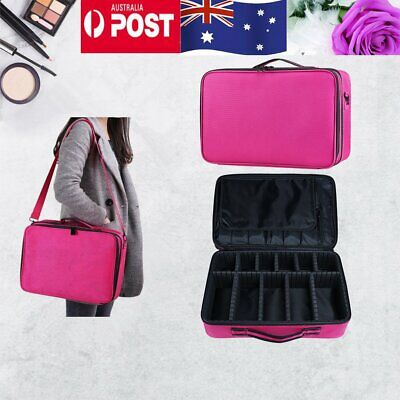 AU19.94 • Buy Makeup Bag Portable Cosmetic Make Up Case Storage Box Travel Organiser