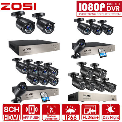 AU239.99 • Buy ZOSI H.265 8CH 5MP Lite DVR 1080P CCTV Security Camera System Home Outdoor 0-2TB