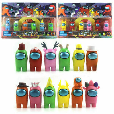 6Pcs New Among Us Game PVC Action Figures Collection Toys Kids Xmas Gifts • 9.09£