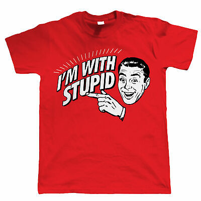 I'm With Stupid, Funny Mens T Shirt • 13.99£
