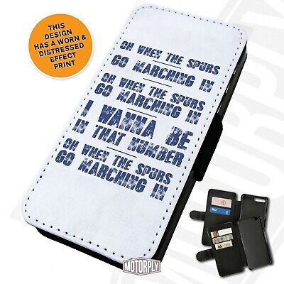 Printed Faux Leather Flip Phone Case For IPhone - Spurs-Chant-March • 9.75£