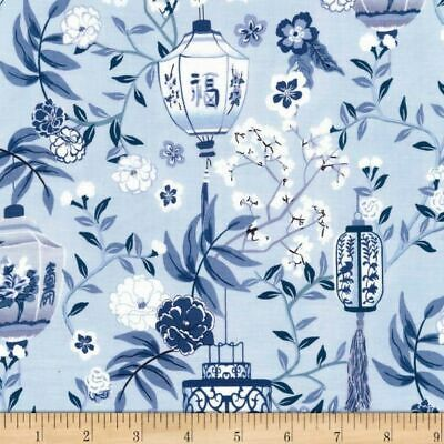 £3.25 • Buy Fabric Lovely Chinese Lanterns Michael Miller 100% Cotton 112cm Wide Blue