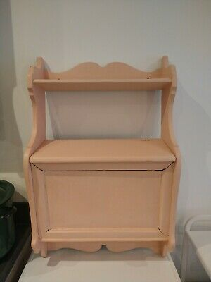 Vintage Pink Wall Cabinet Shelf Annie Sloan Painted Shabby Chic Pine  • 15.70£