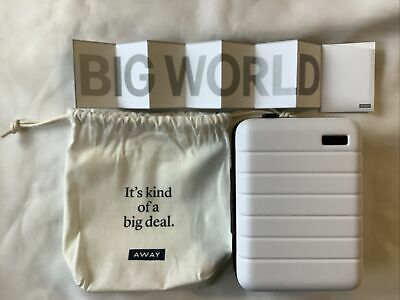 $ CDN42.72 • Buy Away Travel Mini Luggage Suitcase Toiletry Cosmetic Case White