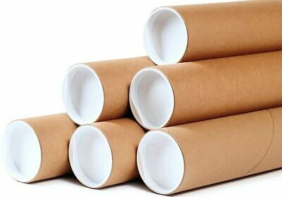 $16.95 • Buy 10 - 2  X 12  Round Cardboard Shipping Mailing Tube Tubes With End Caps