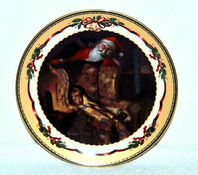 "$ CDN24.25 • Buy Norman Rockwell Christmas Memories Collector's Plate ""Christmas Dream"" Porcelain"