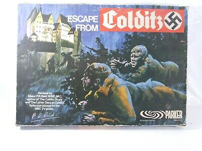 Escape From Colditz Original Board Game Parker Palitoy WWII Boxed Complete 1970s • 48.99£