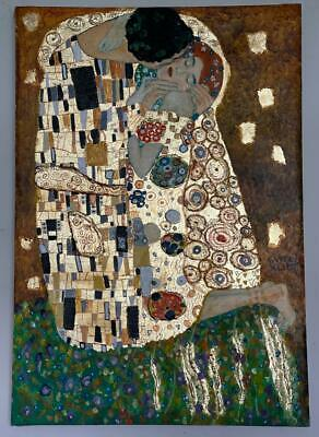 $ CDN1275.90 • Buy Gustav Klimt Painting On Canvas Signed & Stamped Hand Carved