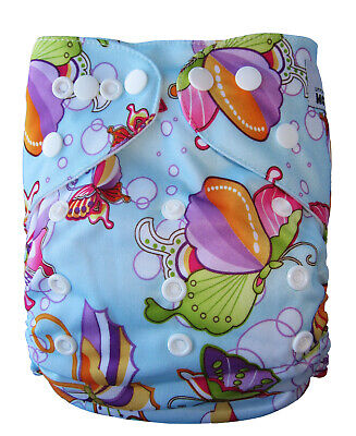 AU9.95 • Buy MODERN CLOTH NAPPIES MCN DIAPERS REUSABLE One Size Fits All BUTTERFLY SHELL