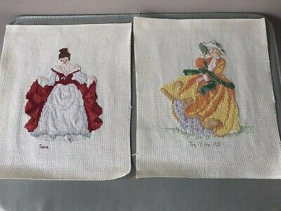 2 X Royal Doulton Top O' The Hill & Sara Completed / Finished Cross Stitch  • 12.99£