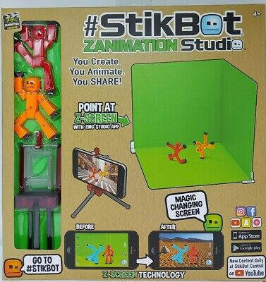 Zing STIKBOT ZANIMATION STUDIO Animation Toy Figure - Create, Animate, Share • 18.95£
