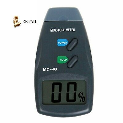 Digital LCD Damp Moisture Meter Detector Tester Wood Timber Plaster Sensor • 13.49£