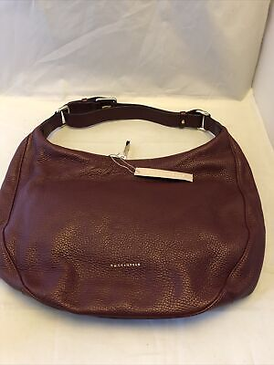 Coccinelle Leather Shoulder Bag Large Wine Red • 119.99£
