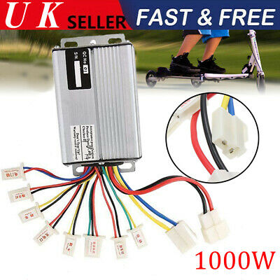 £22.49 • Buy 36/48V 1000W Electric Bicycle E-bike Scooter Brush DC Motor Speed Controller UK