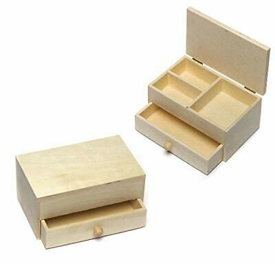 Wooden Jewellery Boxes Craft Project — Ideal For Kids' Arts And • 11.99£