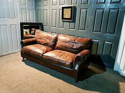 Superb Timothy Oulton Halo Balmoral Leather Sofa • 1,250£