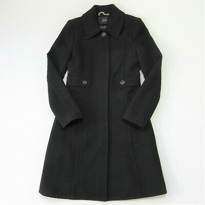 AU245.59 • Buy NWT J.Crew New Lady Day Coat In Black Italian Doublecloth Wool Thinsulate 2