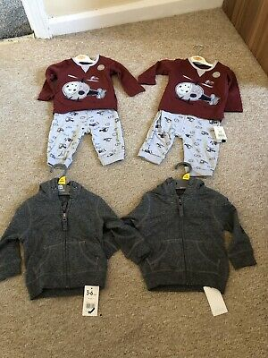 Bnwt Twin Identical Baby Boys 3-6 Months Outfits And Sets Big Bundle Clothes • 29.99£