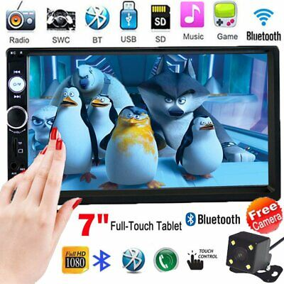 AU74.34 • Buy 7'' Double 2DIN Touch Car Stereo Radio MP5 Player Head Unit Bluetooth USB/FM+Cam